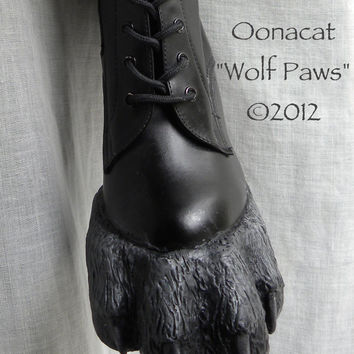 Wolf Paws  for Costume  - Wolf Boots - Custom Made -