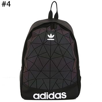 ADIDAS tide brand men and women diamond casual sports backpack #4