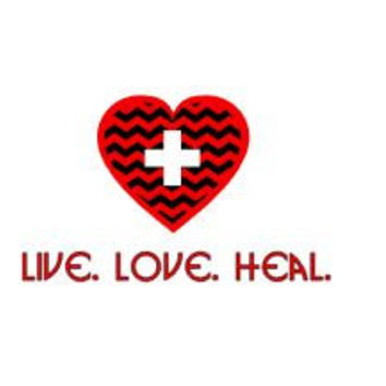Nurse decal live love heal medical decal decor nurse quote vinyl decal bumper stick