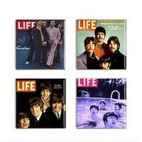 Beatles Drink Coasters Fab Four Rock Group Ceramic Sublimated Drink Tiles