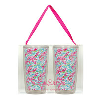 Lilly Pulitzer Insulated Tumbler Set- Lobstah Roll