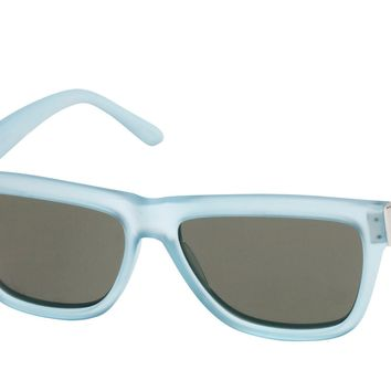 Le Specs - Whaam! Crystal Mirage Blue Rubber & Silver Sunglasses