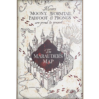 Harry Potter Marauder's Map Wood Wall Art