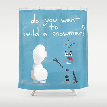 The Snowman Shower Curtain by Anthony Londer