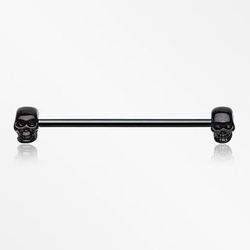 Blackline Apocalyptic Skull Industrial Barbell