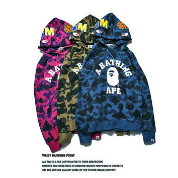 Men's and women's camouflage hooded sweater suits