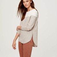 Colorblock Shirttail Tee