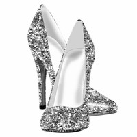 Elegant Glitter High Heel Shoes