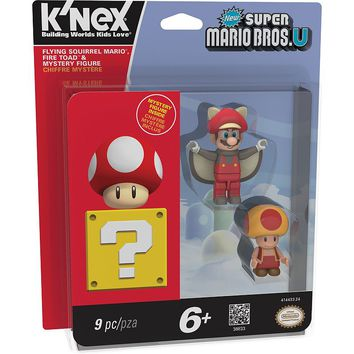 Super Mario Flying Squirrel Mario, Fire Toad & Mystery Figure Set by K'nex