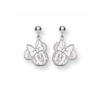 Disney's Flirty Minnie Mouse, Post Earrings in Sterling Silver