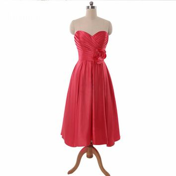 Short Bridesmaid Sleeveless Dresses Wedding Party Dress