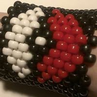 Pokemon pokeball kandi cuff