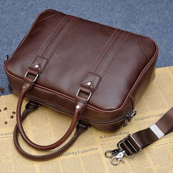 mens womens business sports leather bag briefcase 2