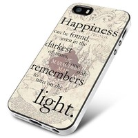 happiness quote harry potter iPhone 5 | 5S | 5SE Case Planetscase.com