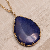 Gem Setter Necklace - Dark Blue