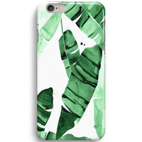 Tropical Banana Leaf Pattern iPhone 6 Case, iPhone 5S Case