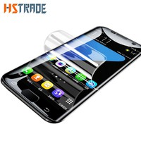 HSTRADE Soft Full Curved Protective Film For Samsung Galaxy S8 S8 Plus Screen Protector Film For Samsung S7 Edge S8 (Not Glass )