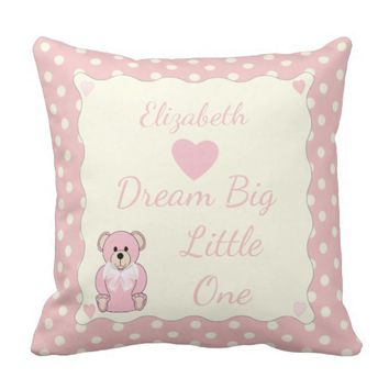 Pink Teddy Bear Cushion / Pillow nursery decor