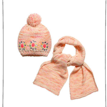 Billieblush Girl Knitted Hat and Scarf Set - U18047