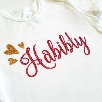 Habibty bodysuit, Habibi, love jaan dear, arabic Islamic, baby boy girl, baby shower, new baby, glitter hearts, Eid, Ramadan, muslim baby