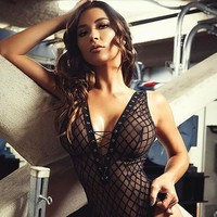 On Sale Hot Deal Cute Sexy V-neck Lace Plaid Exotic Lingerie [747998085236]