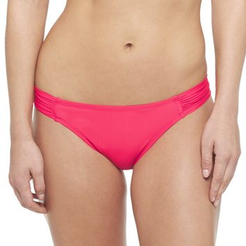 ruched bikini bottom red mango   from target