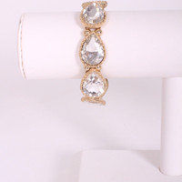 Crystal Tear Drop Bracelet