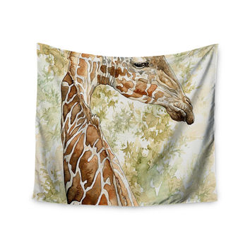 """Wildlife """"Africa 2"""" Brown Animals Wall Tapestry"""
