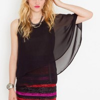 Tiered Cape Top - NASTY GAL