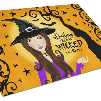 Halloween Wicked Witch Glass Cutting Board Large VHA3019LCB