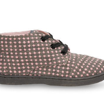 TOMS Pink Wool Dot Youth Paseo Mids Pink
