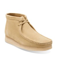Mens Wallabee Boot Maple Suede - Mens Medium Width Shoes - Clarks
