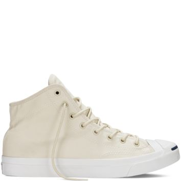 Converse Jack Purcell Brushed Cotton Seashell Mid