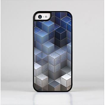 The Blue and Gray 3D Cubes Skin-Sert Case for the Apple iPhone 5c
