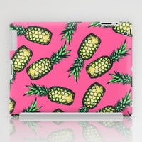 Pineapple Pattern iPad Case by Georgiana Paraschiv