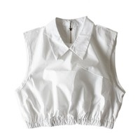 Cropped Collar Top