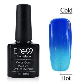 Chameleon Temperature Changing Colour Nail Lacquers Soak Off UV LED Gel Polish Strong Blue - Azure Blue
