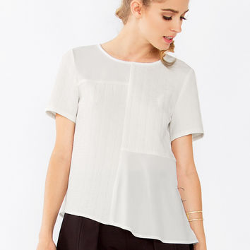 White Noise Short Sleeve Top