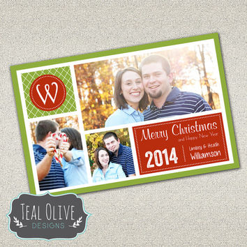 Christmas Card \ Merry Christmas \ Holiday Card \ Photo Christmas Card \ 5x7