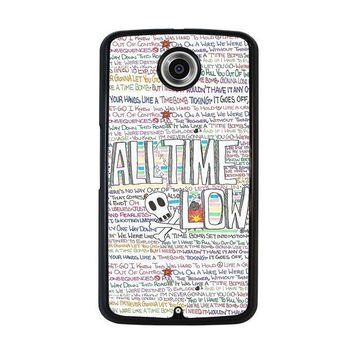 all time low writting nexus 6 case cover  number 1