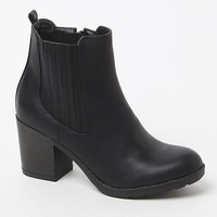 Mia Farwest Faux Leather Booties - Womens Boots - Black