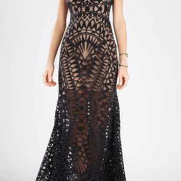 Maranda Burnout Lace Dress
