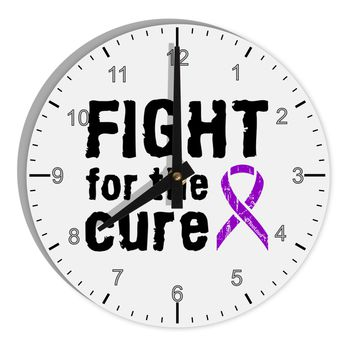 "Fight for the Cure - Purple Ribbon Epilepsy 8"" Round Wall Clock with Numbers"