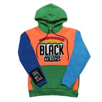 "Originals ""Support Black Colleges"" Polar Fleece Tech Hoodie in Turquoise, Green, Blue & Orange"