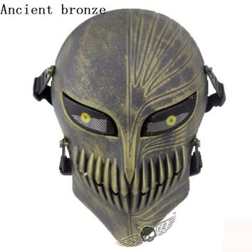 Tactical Airsoft Hunting Movie Full Face Masks Outdoor Paintball Motorcycle Cycling Beanies Protection Full Face Mask