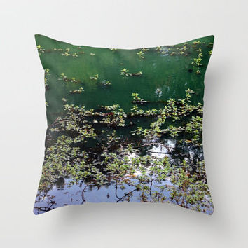 Afternoon At The Pond Throw Pillow by Stacy Frett