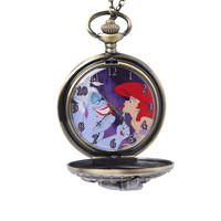 Disney The Little Mermaid Ursula Pocket Watch Necklace