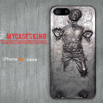 Han Solo iPhone 5s case Frozen in Carbonite iPhone 5s Case Star Wars iPhone 5s case iphone 5s 5 Hard/Rubber case-Choose Your Favourite Color