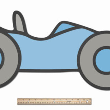 Funnest Race Car - Kids, Boys, Nursery & Baby Room Ideas, Fantastically Large Wood Wall Decor