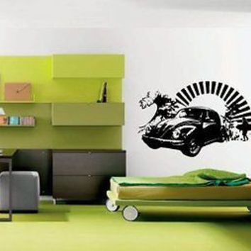 Surfer Surfing Beach Life Decor Wall Art Sticker Decal Ar806